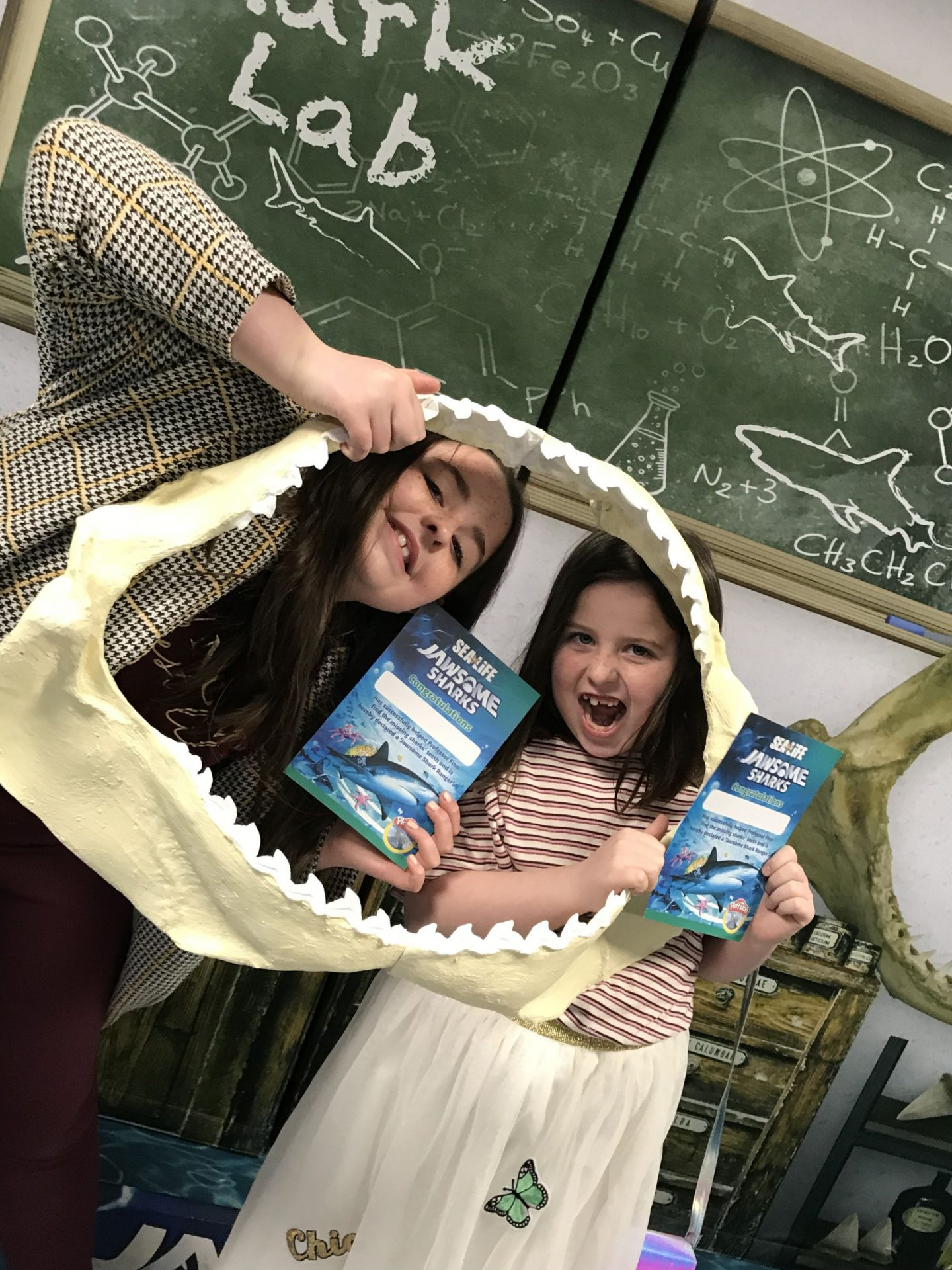 Jawesome sharks at Scarborough Sea Life Sanctuary with Play-Doh